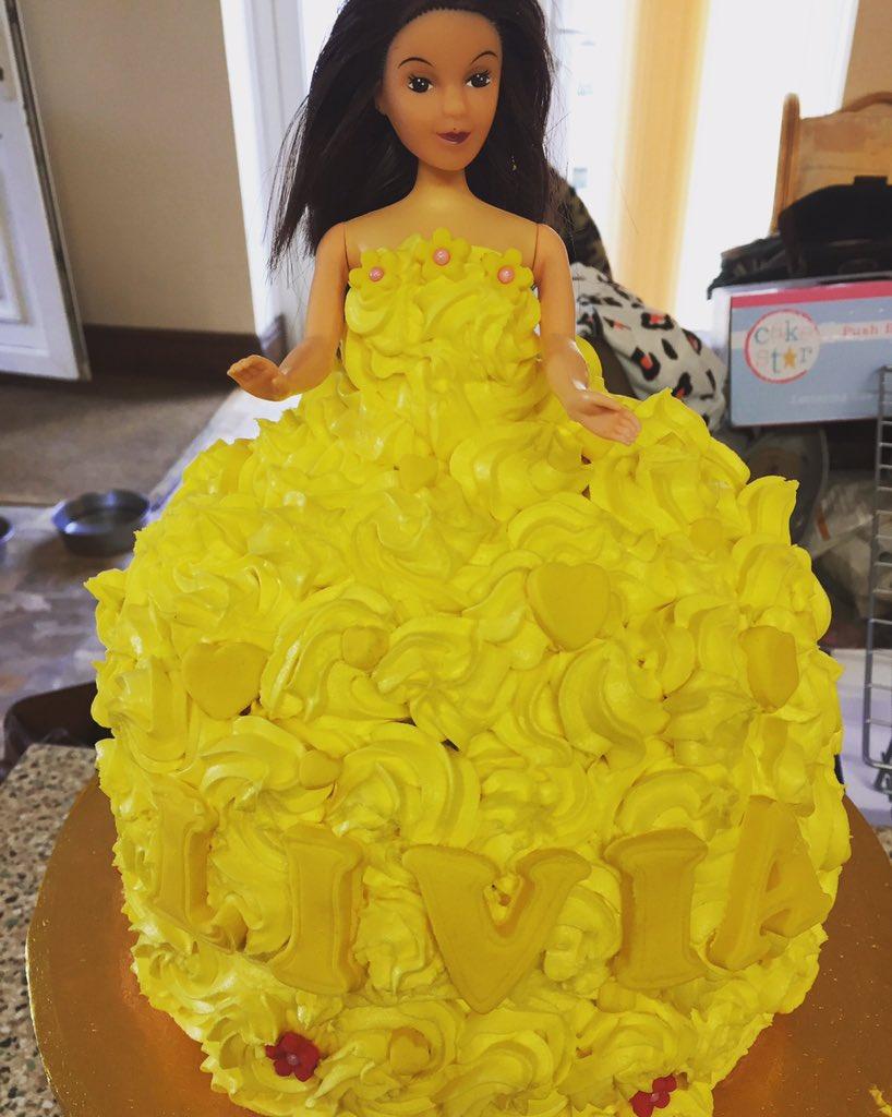 Sophie Mudd on Twitter Disney Princess Belle Doll Cake homemade