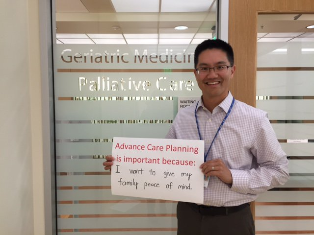 PAMF's @stevelaiMD & #palliativecare team share their thoughts on #NHDD. Why is advance care planning impt to you? https://t.co/M9Uq1GQLfB