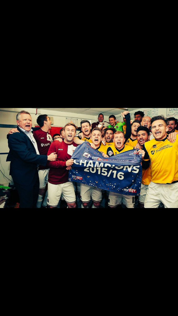 WE ARE THE CHAMPIONS!!  #champions #ntfc #cobblers #whatamove @nickyadams10 @ricky_holmes @lawsondath92 @JoelByrom https://t.co/PYHAWFR9Qp