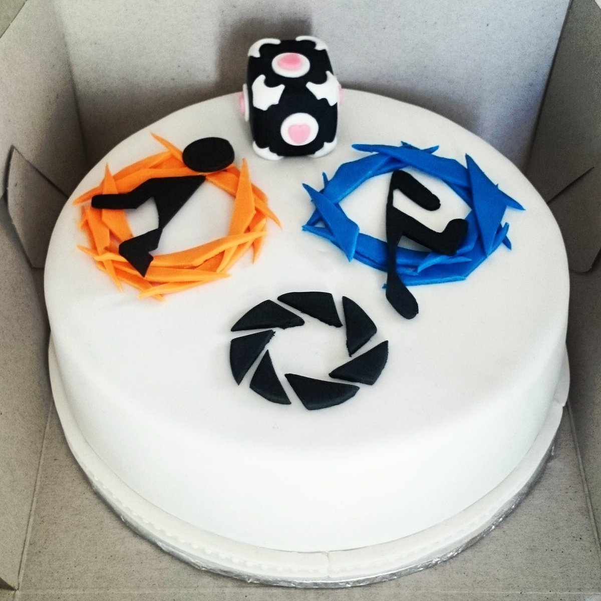 Brilliant Finesse Catering On Twitter Portal Video Game Themed Cake Personalised Birthday Cards Veneteletsinfo
