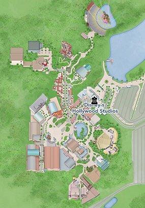 Hollywood Studios Attraction Map Clickable Quiz - By Annie9955