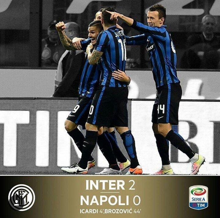Inter-Napoli è terminata 2-0