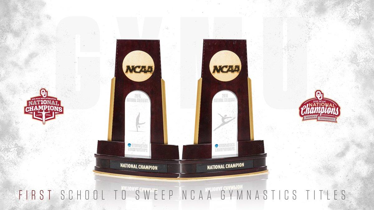 #GymU OU the first school to win both men's & women's gymnastics titles in same season ➡️ https://t.co/e829n2iTIv https://t.co/Ekst0sMmDq