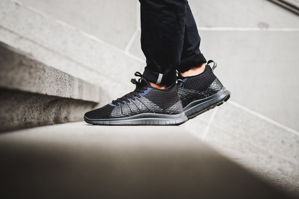 On foot shots of the awesome Nike Free Hypervenom 2 FC Black Reflect  Silver. ...