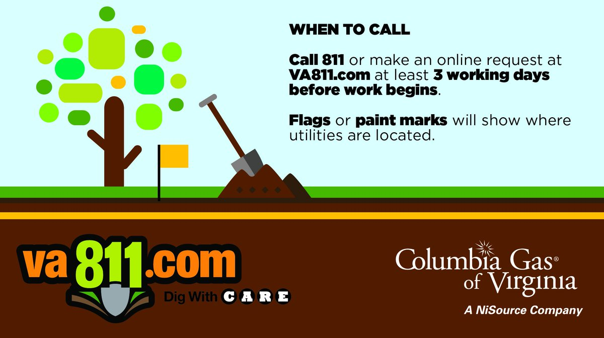 Columbia Gas Of Va On Twitter Always Call Va811 Beforeyoudig It S Not Only Smart It S The Law Here are quick links for entering your ticket requests online twitter