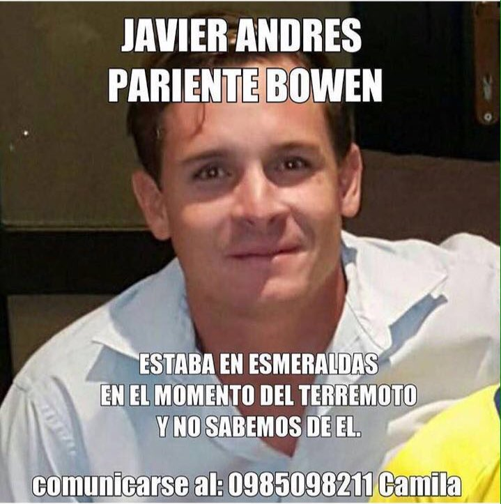 Ayúdame a encontrarlo...  #Esmeraldas DALE RT https://t.co/QBI3qSxvAY