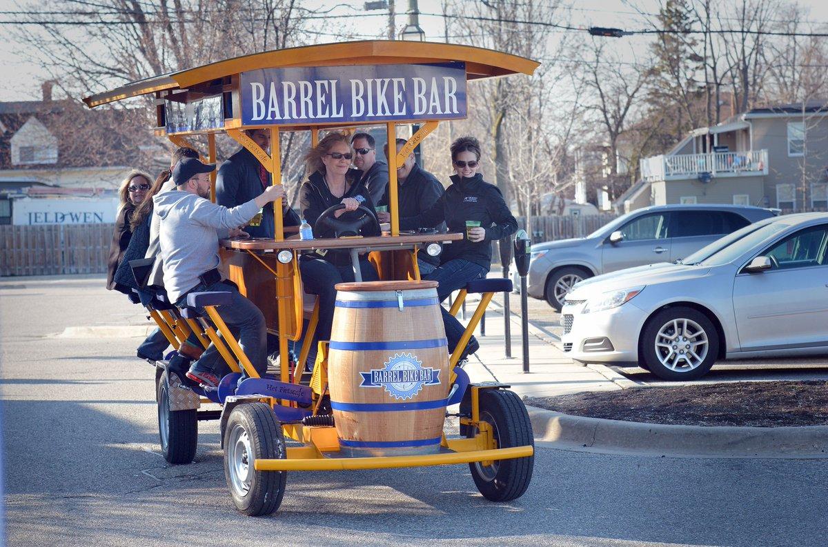 The Macomb Daily On Twitter Barrel Bike Bar A Party Bike