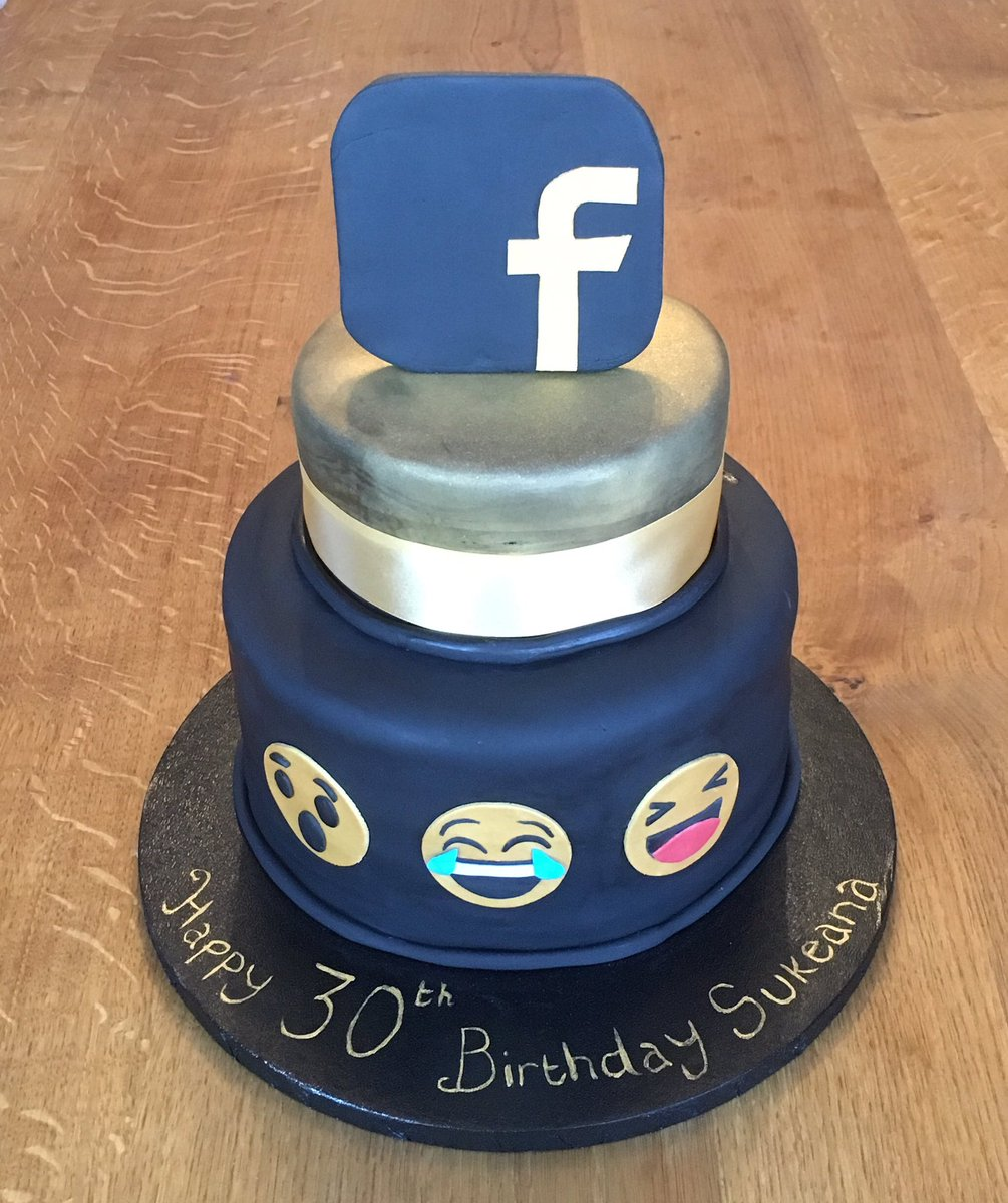 Remarkable Dreams Of Cake On Twitter Birthday Cake For A Facebook Addict Personalised Birthday Cards Vishlily Jamesorg