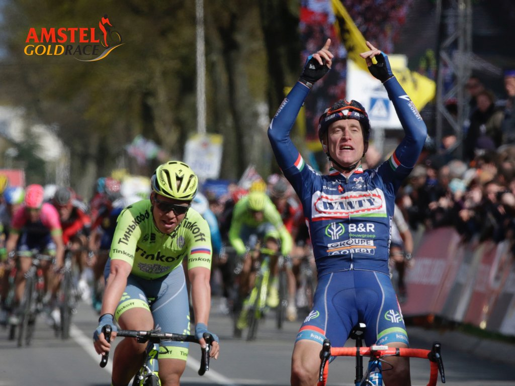 Met Gasperotto heeft de Amstel Gold Race 2016 een prachtige winnaar. Hij won 'm ook in 2012. #AGR https://t.co/H2eLvcC8lg