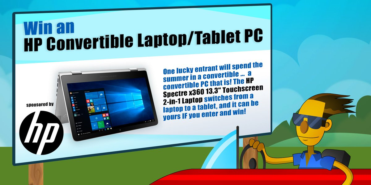 It's a laptop! It's a tablet! It's the LAST CHANCE to win an @HP convertible PC! RT & enter: https://t.co/FDYLCMxxZQ https://t.co/oHGgLCLFTG