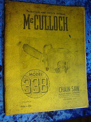 Mcculloch chain Saw Manual Parts