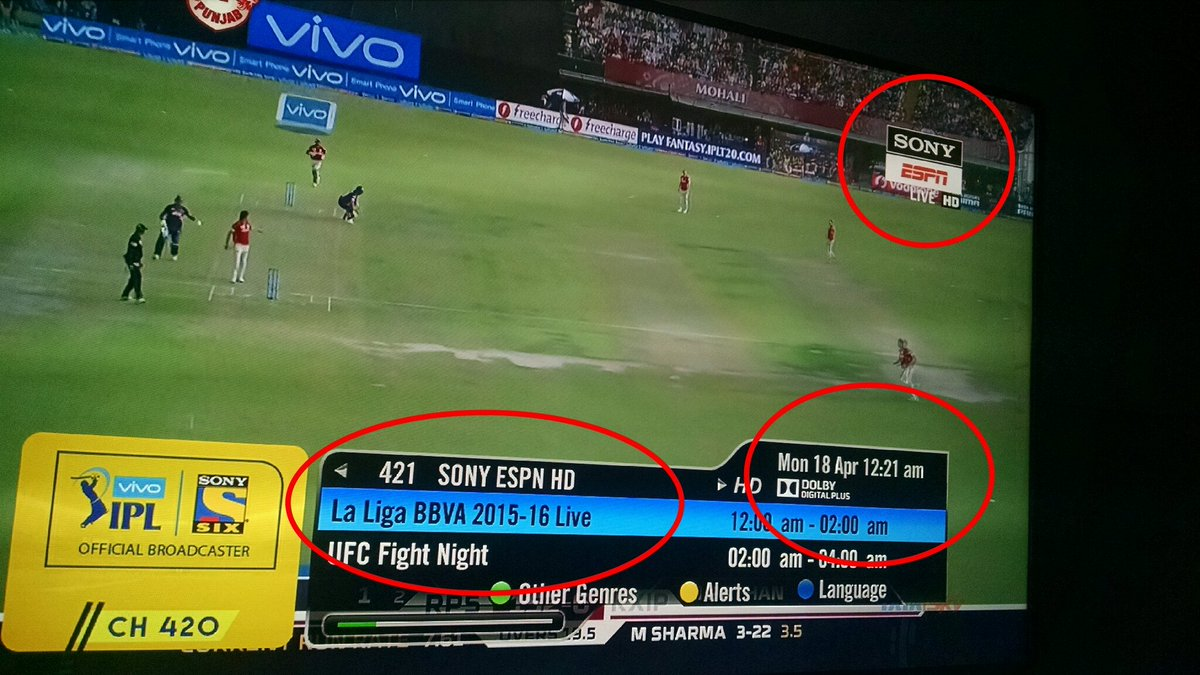 Sandeep Koul On Twitter Sony Espn In India Not Everyone Is Ipl Fan Post Match Presentation Over Laliga Barcavalencia Is Shame