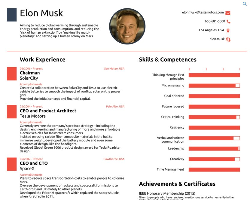 henry blodget on twitter the one page resume for elon musk httpstcoejhbzdrlb9 julie188