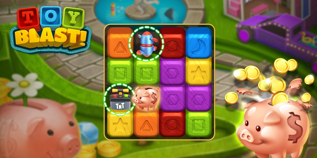 Toy Blast Play Now : Toy blast on twitter quot clear the piggy bank using rotor or