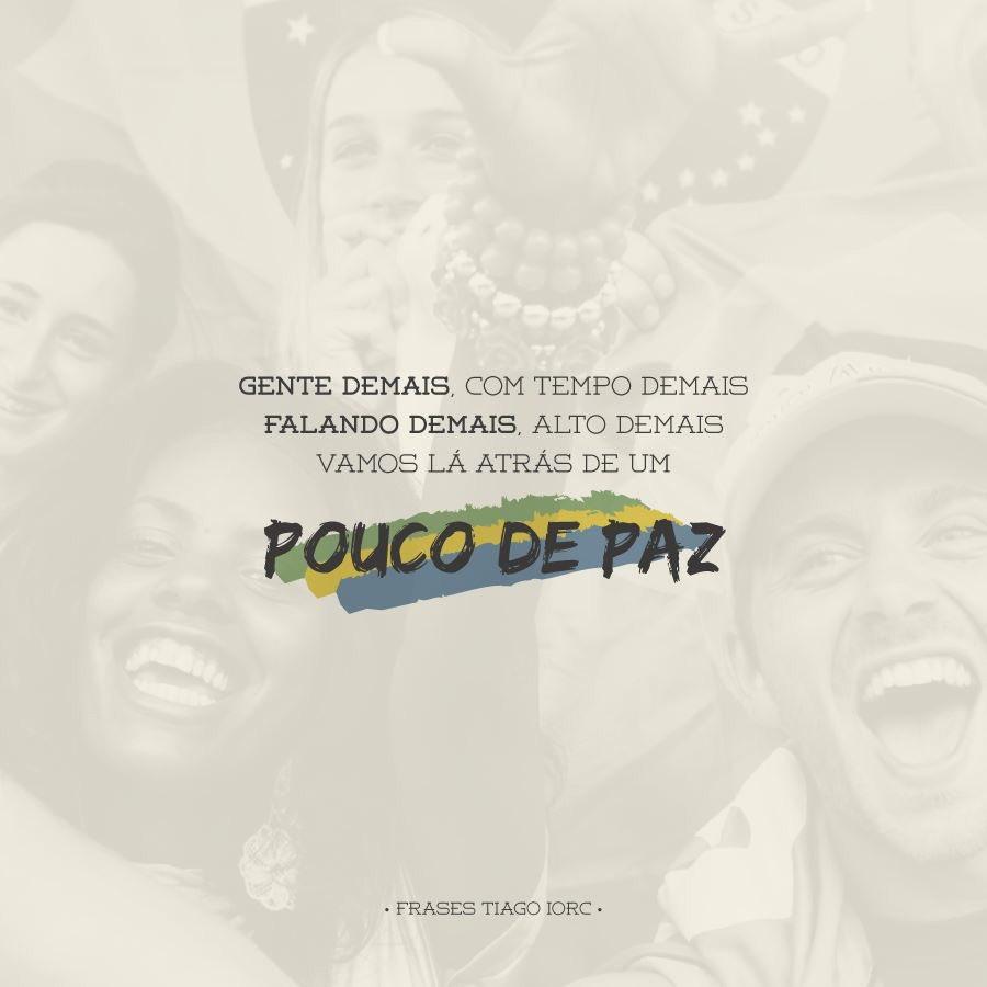 Tiago Iorc Online On Twitter Vamos Lá Atrás De Um Pouco De Paz