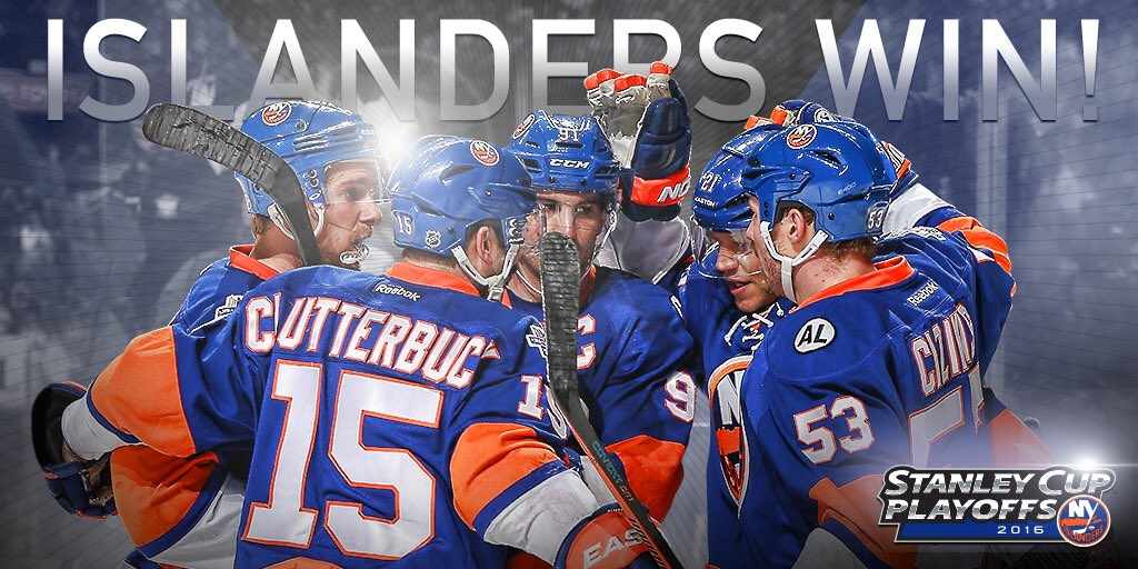 #ISLES WIN!!!! 4-3 in overtime to take a 2-1 series lead! YES! YES! YES! #DriveFor5 https://t.co/cPHhwV0vlt