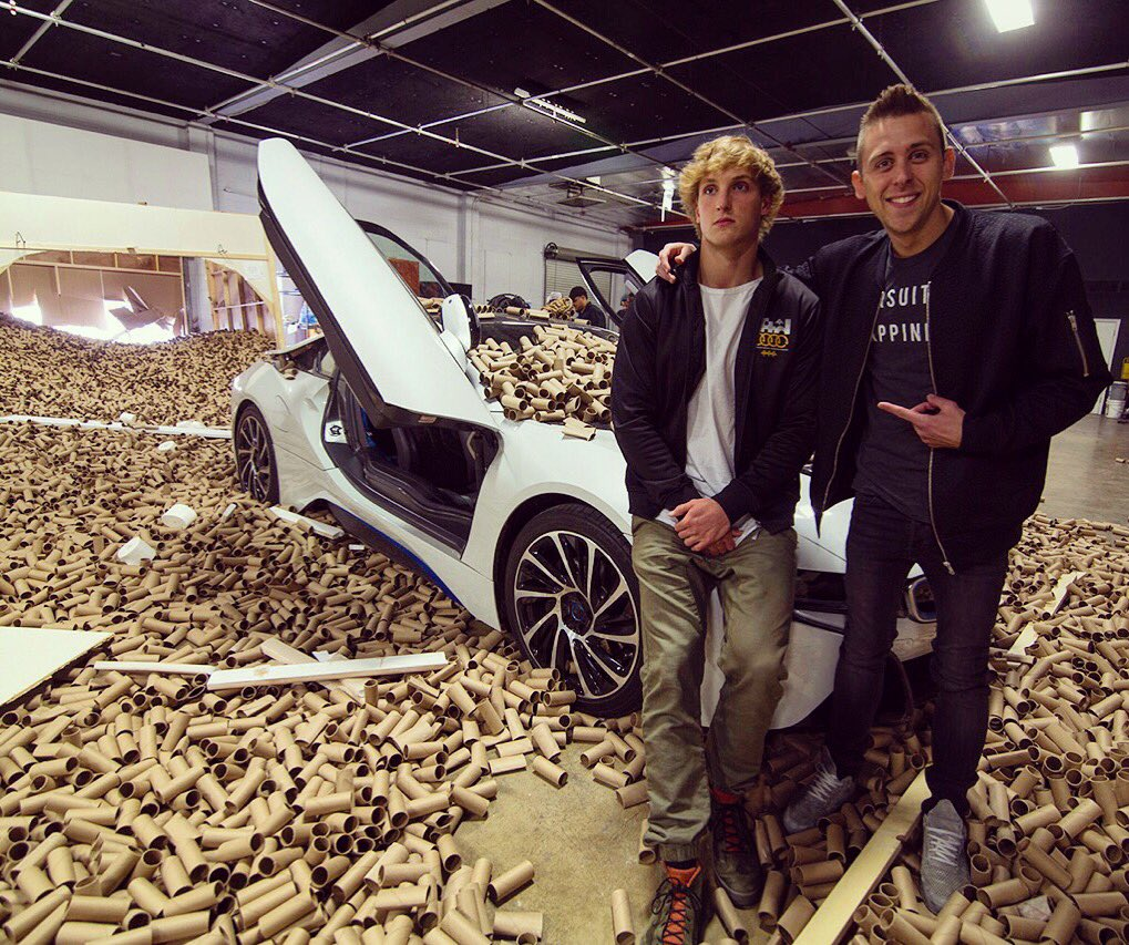 Logan Paul on Twitter \ He told me we were making a vlog then drove me through a garage door filled with 66000 tubes lololol @RomanAtwood\u2026 \   sc 1 st  Twitter & Logan Paul on Twitter: \