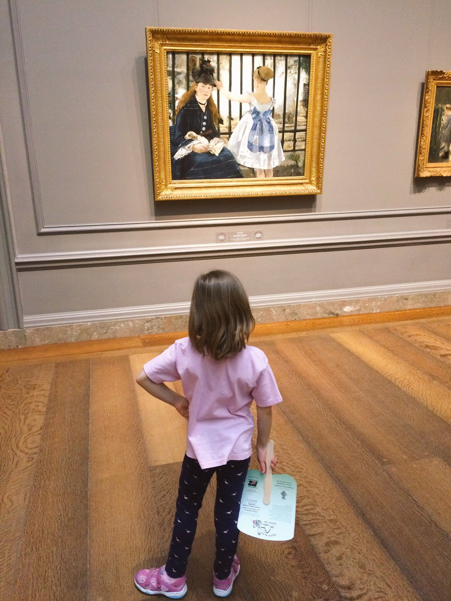 .@karaboo42 contemplates an Edouard Manet. She insisted we  visit the @ngadc today after #SciFest. https://t.co/WANXesOIxa