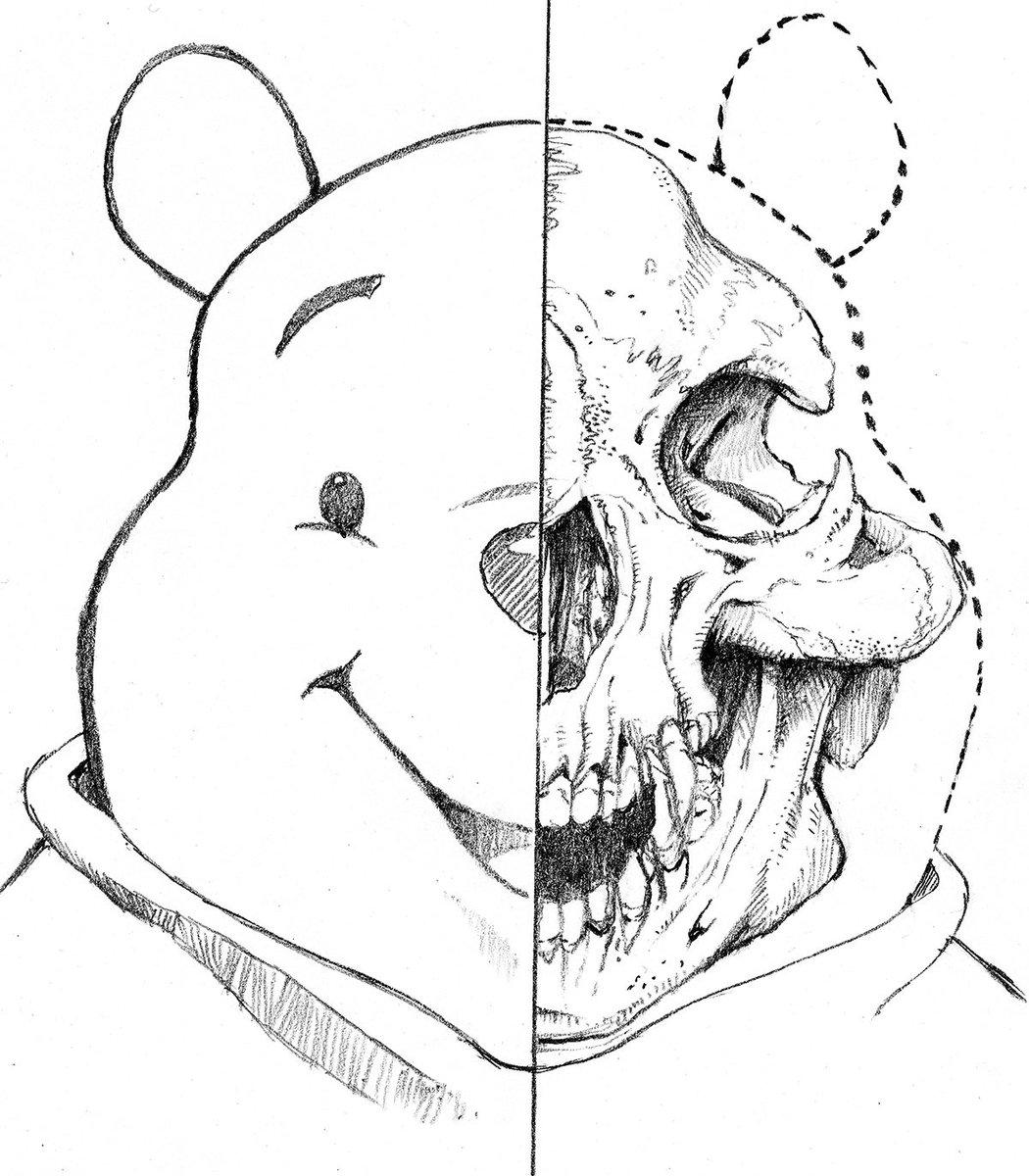 クマ系のスカルを描くのが、楽しかったらしい。しかしソチ・オリンピックのキャラクターなんて、誰も覚えてないよな~。くまモン、プーさん、リラックマ、ソチのキャラクター https://t.co/gQ7QEVVNhz