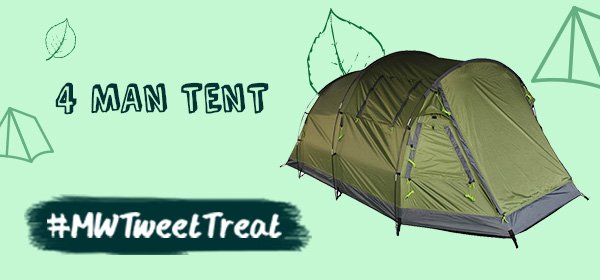 Morning Happy campers! RT & Follow to #WIN a 4 man tent! https://t.co/bLmw5iv5mG #MWTweetTreat https://t.co/We1XPWF97D