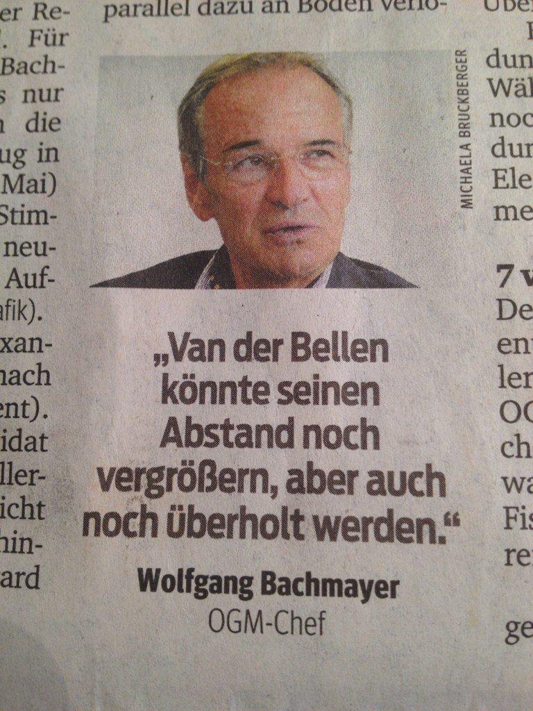 Van der Bellen könnte seinen Vorsprung noch vergrößern, aber auch noch überholt werden.