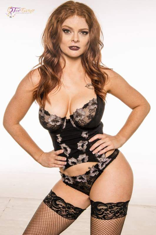 Candice Elizabeth  - Curves. By T twitter @Candiceelizabth lingerie,redhead,ginger,stockings,curves