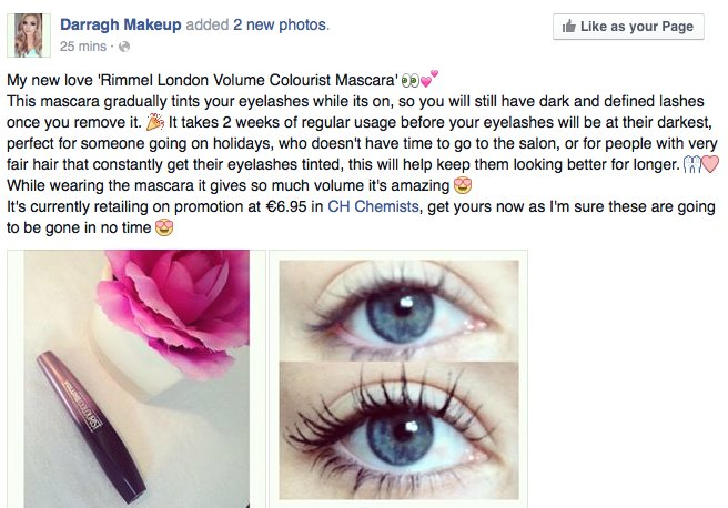 """CH TRALEE on Twitter: """"Great Review for the NEW Rimmel London Volume Colourist Mascara <3 #rimmel #mascara #chtralee #chchemists #review ..."""