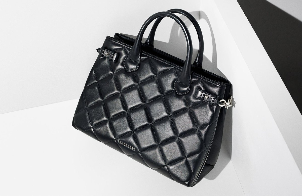 7dbcb9299292 a burberry signature updated the banner bag in new quilted leather