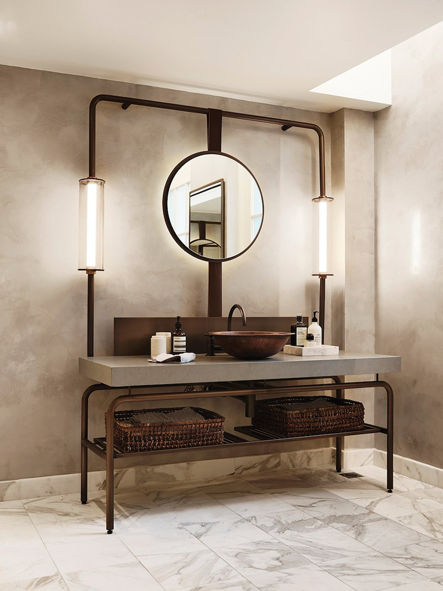 #Design Awesome of the Day: Industrial #Steampunk-ish Bathroom Decoration  via @tiffanygroup #SamaDesign