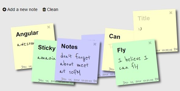 Sticky Notes : AngularJS Real-Time NotesAngularJS