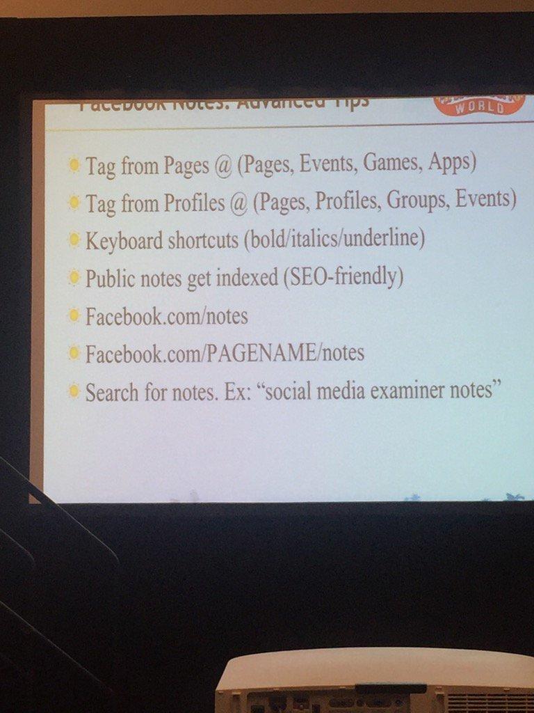 @ckroks with advanced #tipsforsuccess #SMMW16 for #FBnotes https://t.co/AqB4w9R3hk