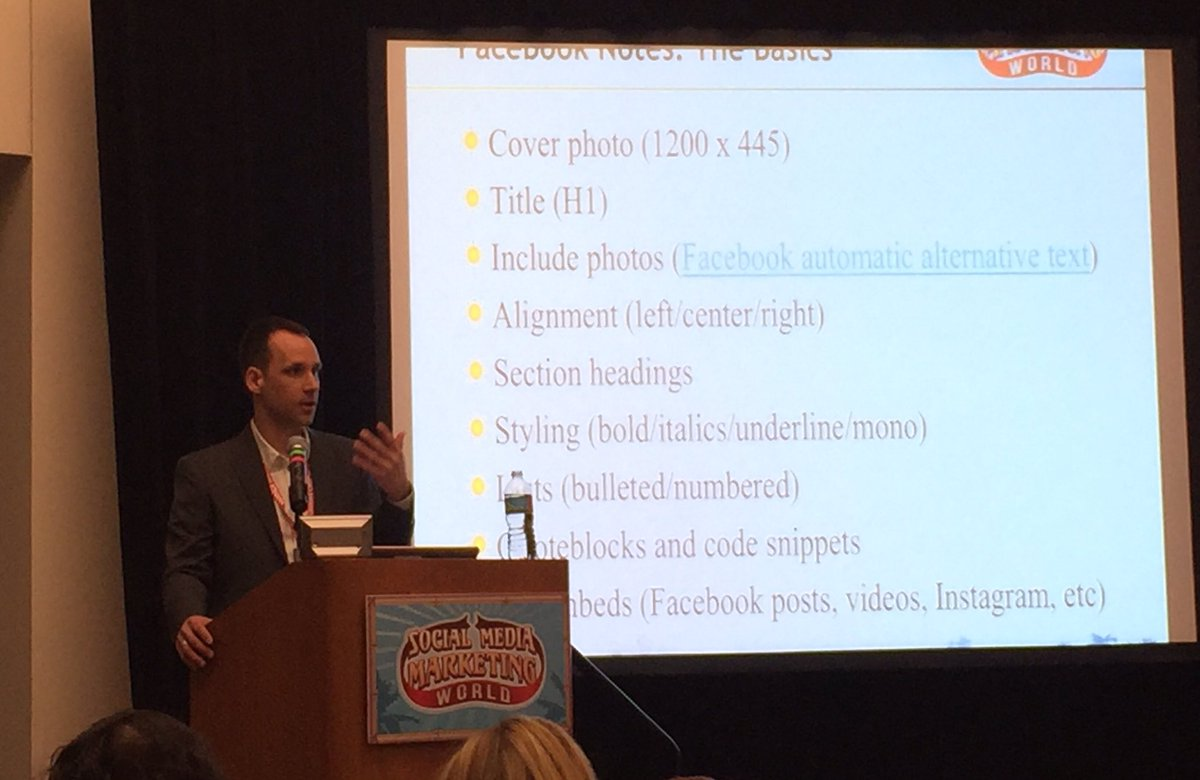 .@ckroks talking about Facebook Notes, which was redesigned & is now quite robust. #LESM: check it out. #SMMW16 https://t.co/gYG1UTMRbt