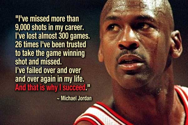 Learning is about changing behaviour to improve performance. As Michael Jordan knows,failure is a critical component https://t.co/y0PFNGuSPH