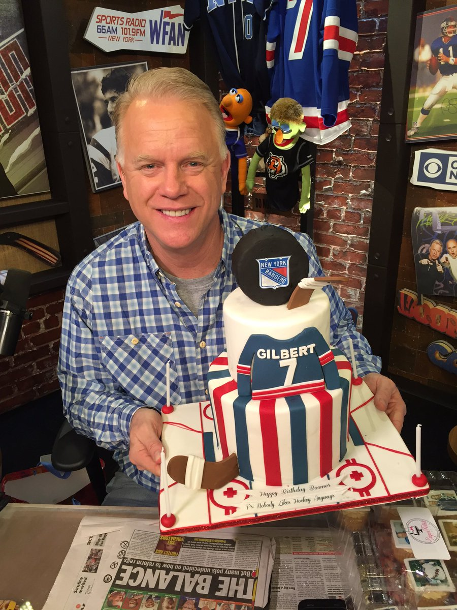 Morning Show With Boomer Gio On Twitter Heres Boomers NY Rangers Themed Birthday Cake From Sfcakery In Edison NJ