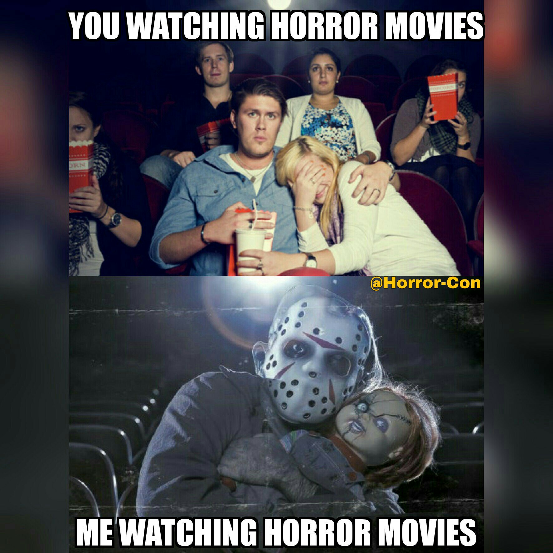watching horror movies essay Why we crave horror movies essaysin the essay why we crave horror movies by stephen king the author is explaining why he feels people watch and enjoy horror movies he says that part of the reason is to show that we can and to prove that we are not afraid we are daring ourselves and our.