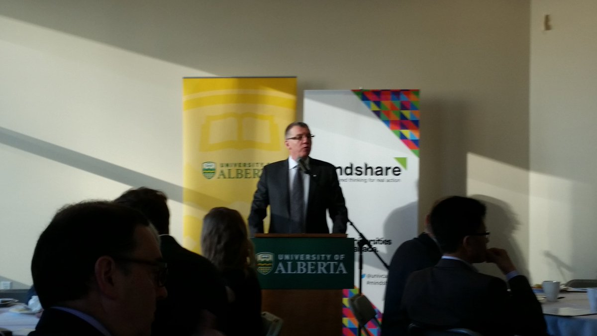 President Turpin opens discussion on #Mindshare2016 and conversation on global #energy systems. @UAlberta @UofAALES https://t.co/AuYIzrrHuy