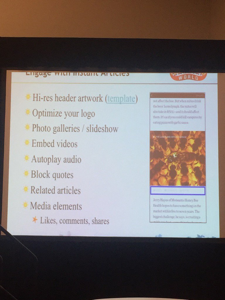 Getting elements right for #instantarticles via @ckroks at #SMMW16 #tipsforsuccess https://t.co/bfHGxlL8uZ