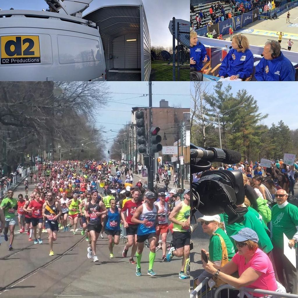 D2 is all over the #boston #marathon course for #WBZ today!
