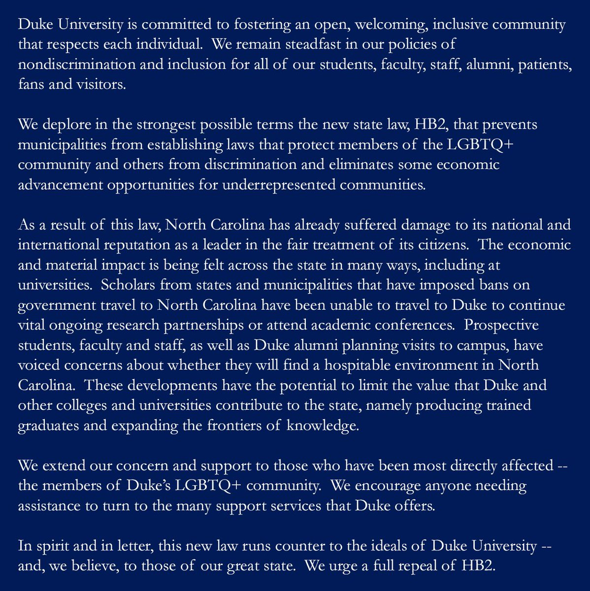 an essay on my decision for readmission into duke university What should you avoid when writing a supplemental essay for college admission duke university's trinity college offers applicants the opportunity to write a supplemental essay that answers the question: please discuss why you consider duke a good match for you.