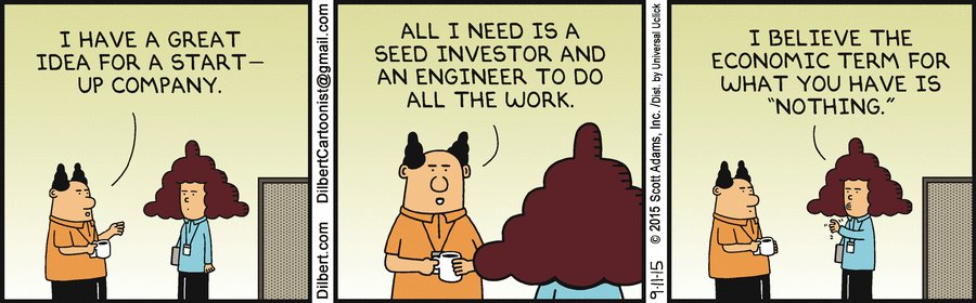 """My new standard reply to """"idea people"""" looking for a technical cofounder. https://t.co/Lyimo8KHJh"""
