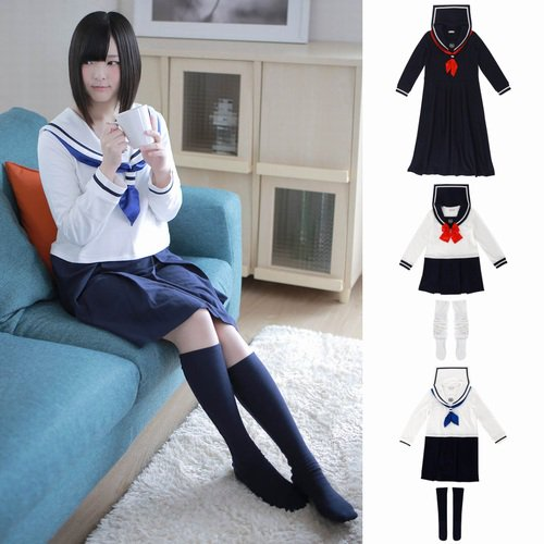 家でJK気分?「セーラー服」型のルームウェアが登場 https://t.co/KKUWWVgYY9 セーラー服型の女性用ルームウェア「セラコレ」が発売開始に。「スケバン型」「コギャル型」「JK型」の3種類を展開。価格は8,000円。 https://t.co/k7R9uEYRYI