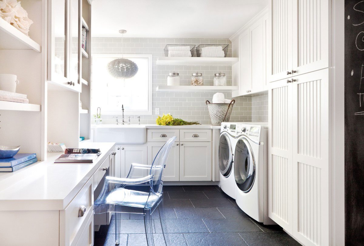 Caesarstone Usa On Twitter 10 Tips To Streamline Laundry Day Via Houzz With This Genius Room Office Combo By Kristemichelini