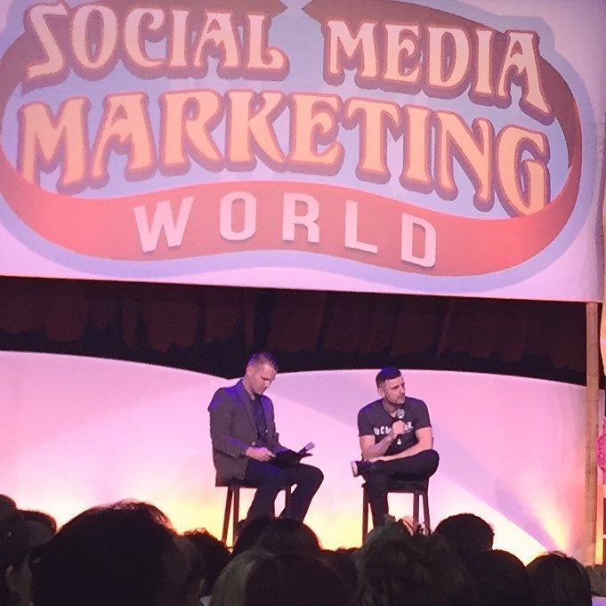 """Everything that you love and you're good at... never give up. Everything else... punt."" @garyvee #SMMW16 https://t.co/l4IGK47Ucu"