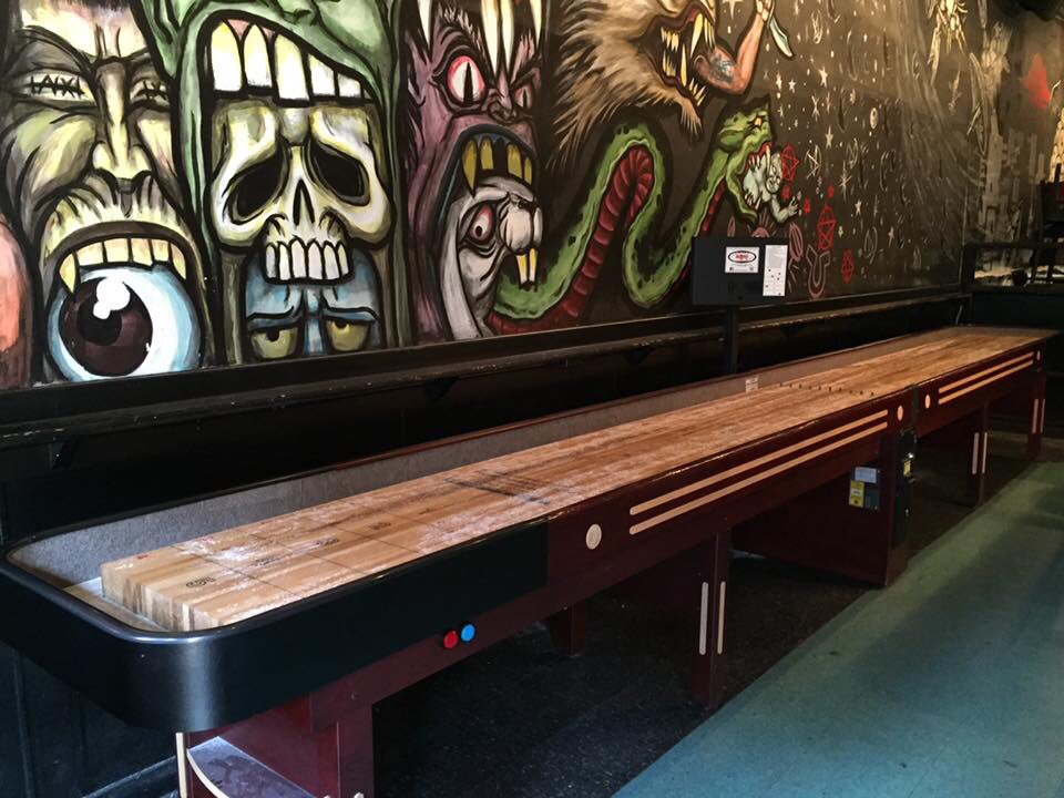 Shuffleboard Is Free Every Day At The Drum And Monkey, Where You Can Also  Catch Live Music.