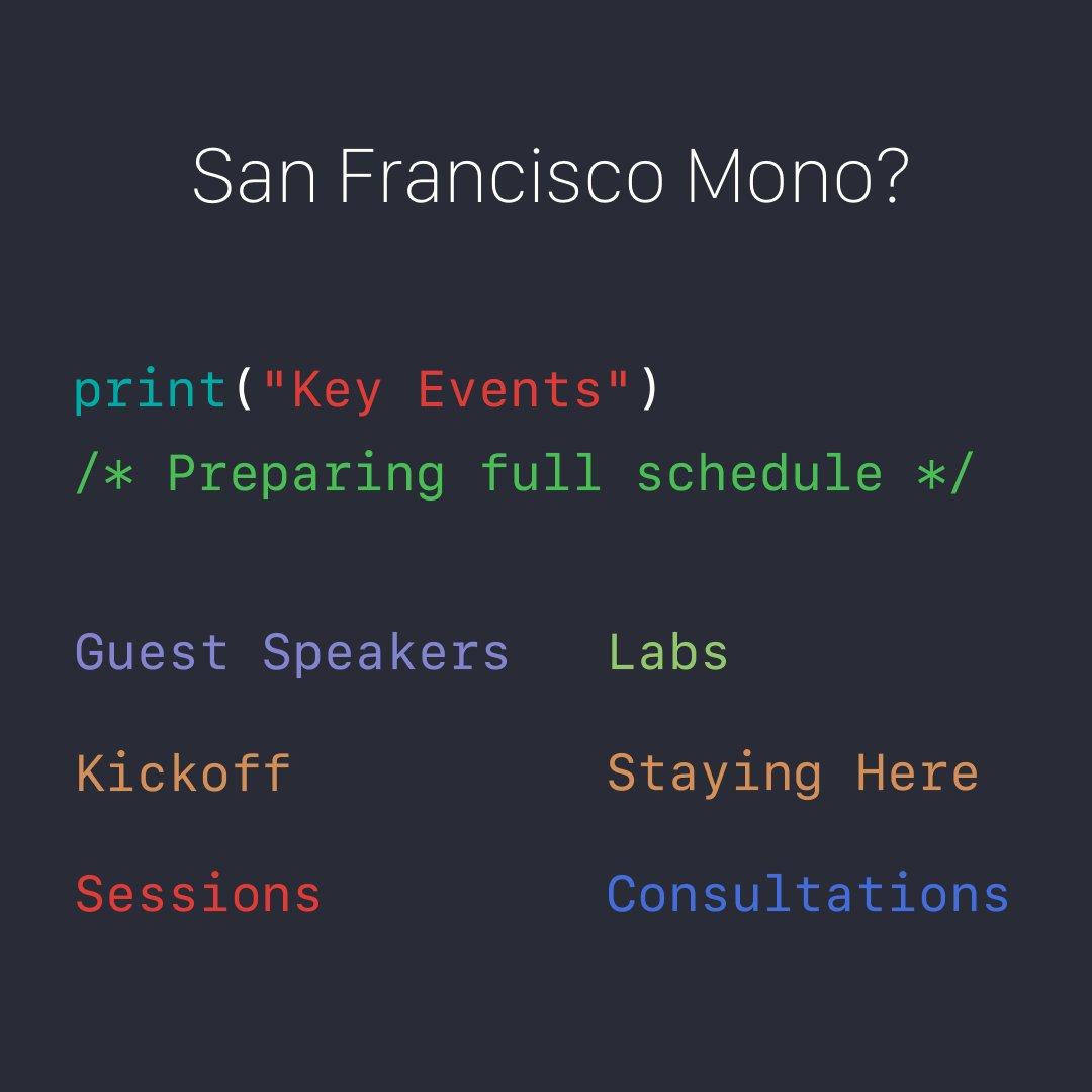 SF Mono Uses