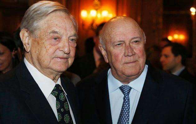 Image result for GEORGE SOROS DE KLERK