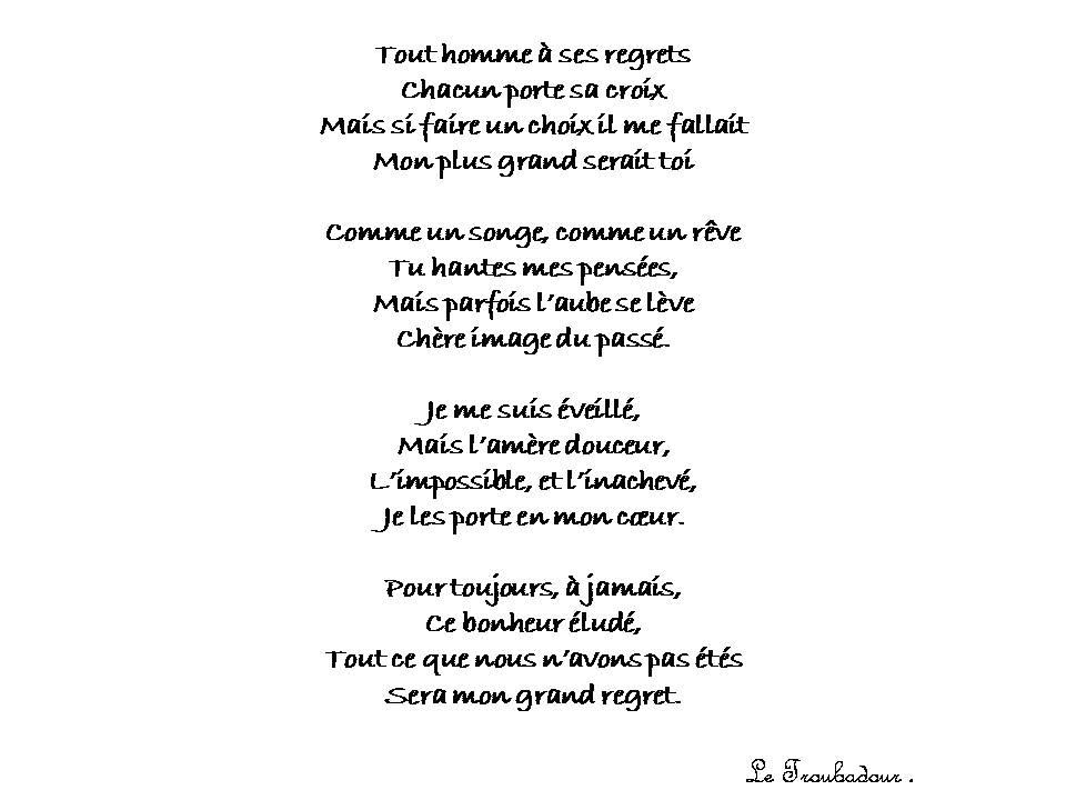 Letroubadoureloïs Twitterren Le Regret Poeme Pour L