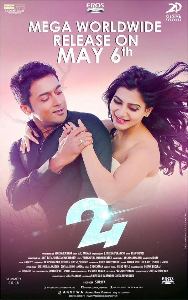 "Review:  Suriya's ""24"" is Unique plus Creatively Treated!! CgZ14GcUsAAsog6"