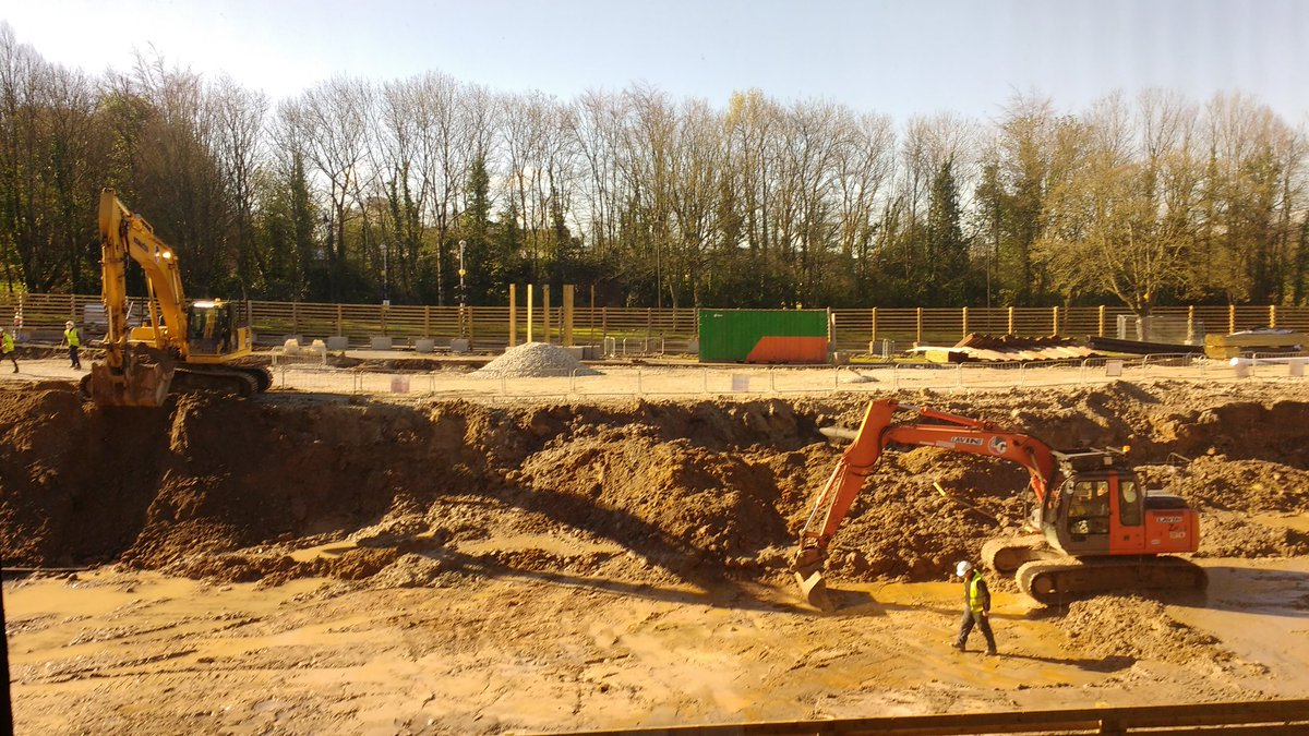Wk 3 of UL library expansion is a great big hole in the ground. No skeletons found yet #ulnewlibrary @ULLibrary<br>http://pic.twitter.com/vukxFVwiBn