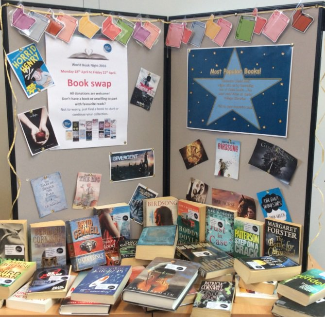 #WorldBookNight festivities have officially began, with our annual book swap! Bring a book, take a book, join in! https://t.co/TXQmiYgyP0